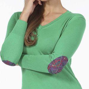Pontto Dámský pulovr S-6001-06, L , Zelená