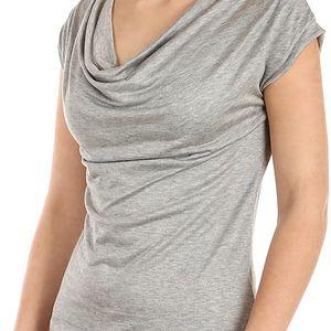 Krásné elegantní tričko světle šedá
