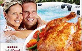 Pečené kuřátko a hodina ve wellness pro 2 za omračujících 249 Kč! Udělejte si romantický večer.