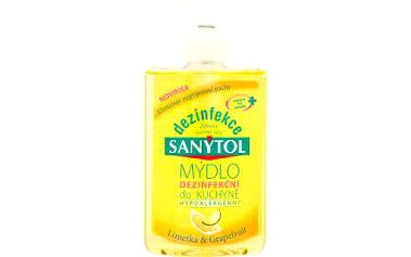 Sanytol Mýdlo do kuchyně limetka & grapefruit 250 ml