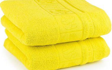 4Home ručník Bamboo Exclusive žlutá, sada 2 ks, 50 x 100 cm