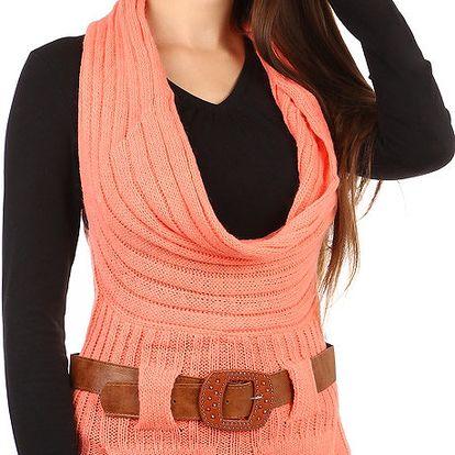 Vesta s páskem oranžová