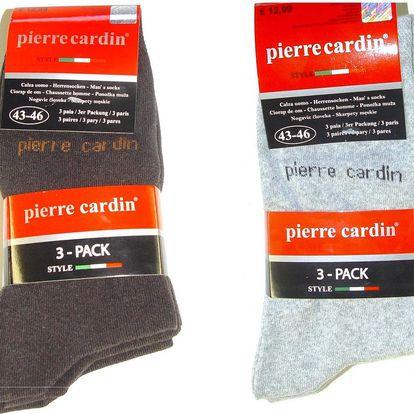 Pierre Cardin ponožky - 6ks: 3x hnědé a 3x šedé, velikost 39-42 - garance dodání do Vánoc