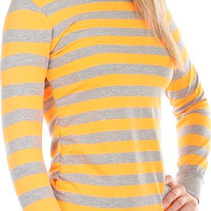 Barevné pruhované tričko oranžová