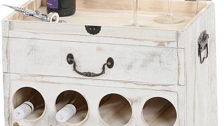Stojan na 12 lahví vína Shabby, bílý - doprava zdarma!