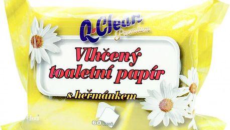 Q clean Ellie vlhčený toaletní papír, vůně heřmánku 60 ks