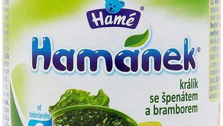 Hamánek Králík se špenátem a bramborem 190 g
