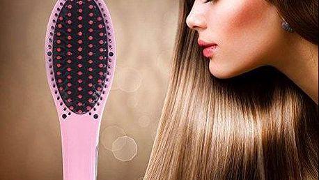 Digitální antistatický kartáč s žehličkou na vlasy. Poštovné je v ceně!
