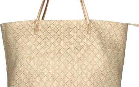 INVUU Dámská slaměná taška 15B0100 natural 50x38cm, Hnědá