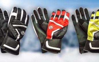 Odolné lyžařské rukavice s dopravou zdarma