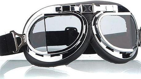 Motorkářské brýle černé - skladovka