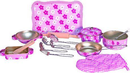 WOODY Růžové nádobí s chňapkou - Trendy