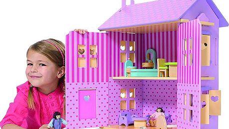 SIMBA Domeček pro panenky dřevěný
