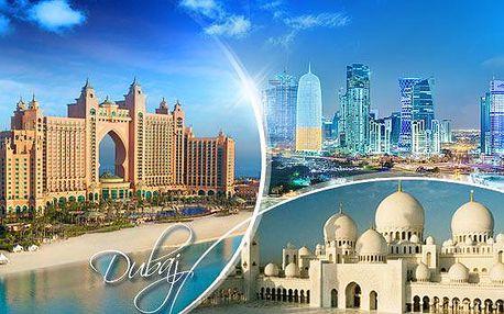 Luxusní DUBAJ! Letecký poznávací zájezd na 7 dní pro 1 os. se 4* ubytováním + snídaně, výlety a koupání!