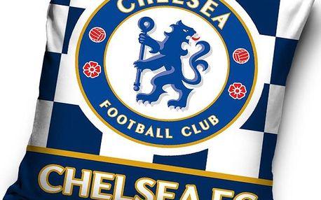 Tip Trade Polštářek Chelsea FC Check, 40 x 40 cm,