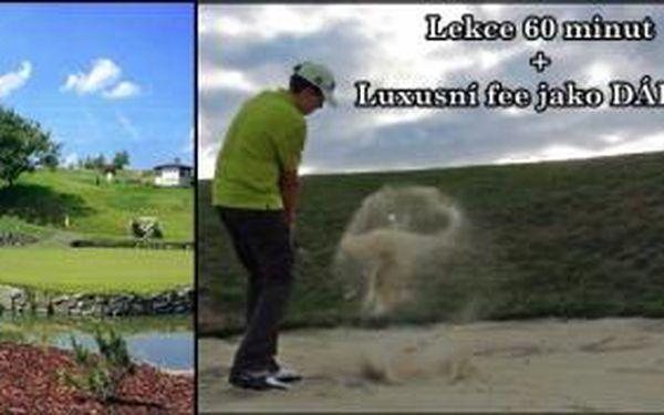 Hledáte dárek pro golfový párek? 2x 60 min. vydatný golfový trénink v Praze + zasloužená odměna v podobě luxusního fee 18 jamek na Konopiště i s bugynou jako dárek.