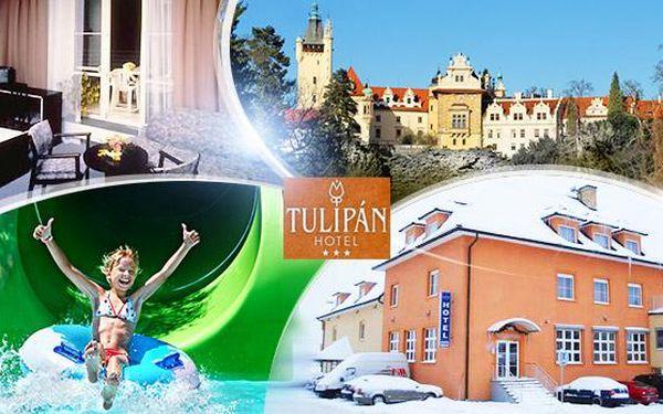 Praha - Průhonice. 3denní pobyt pro 2 až 4 osoby vč. snídaní a 50% slevy do restaurace v hotelu blízko aquaparku!