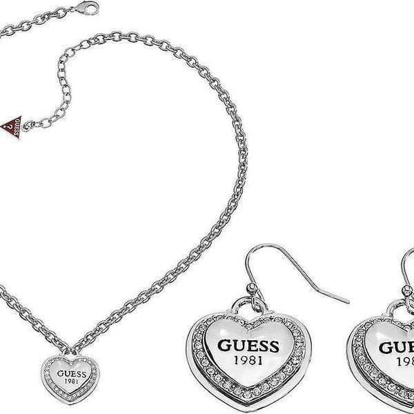 Set dámských šperků Guess - náušnice UBE11461 a náhrdelník UBN11492 - garance dodání do Vánoc