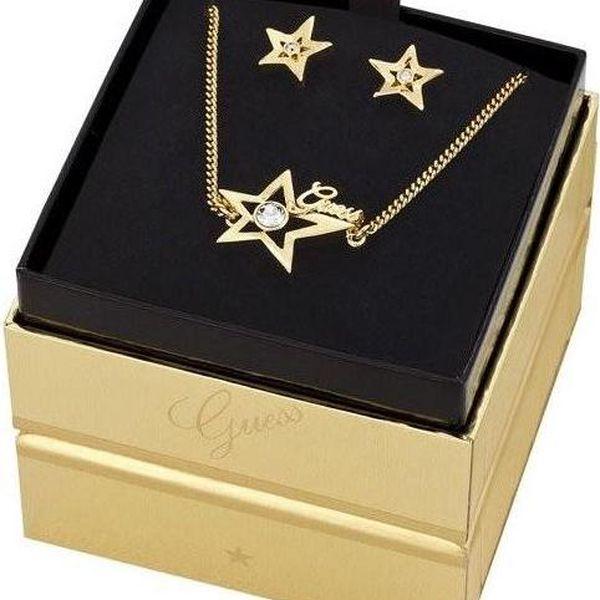 Guess set dámských šperků - náušnice s řetízkem UBS81302