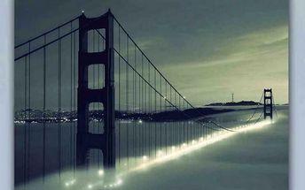 Obraz skleněný, 40x60 cm (šedý most)
