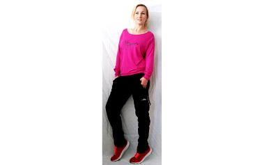 Dámské dlouhé fitness kalhoty NEYWER EK923 - černá