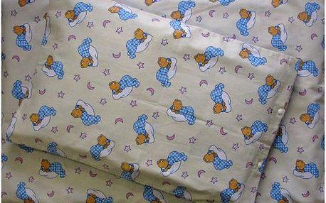 Dětské ložní povlečení č.2 spící medvídek