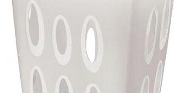 Koš na špinavé prádlo, 45l, 41x33,2x54,9 (krémová)