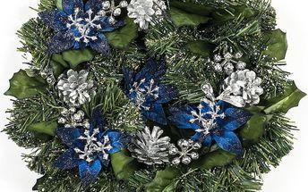 Vánoční věnec modrá, HTH