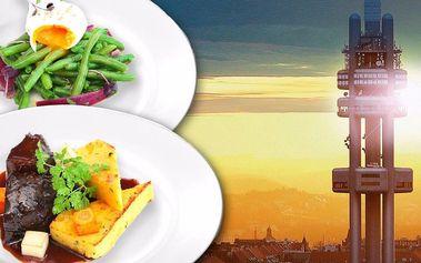 Obědové menu a vstup na Žižkovskou věž