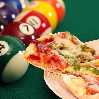 Dvě hodiny kulečníku a dvě pizzy v Billiard clubu BIO Plzeň