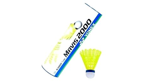 YONEX Mavis 2000 (6ks - žluté tělo) zelená badmintonový košík