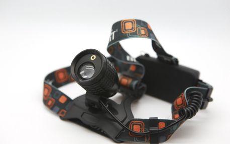 Zoomovací čelovka CREE LED s laserem
