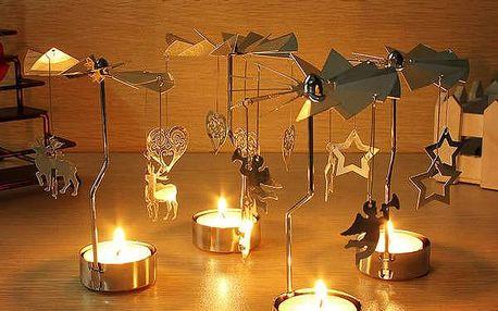 Točící kovový svícen ve více variantách