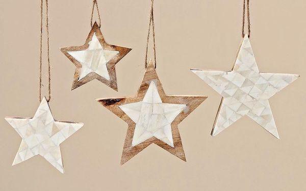 Sada 4 ks dekorativních hvězd Yvi