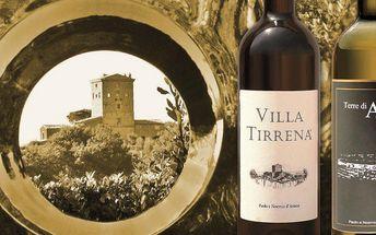 Vína z rodinného vinařství na jihu Toskánska