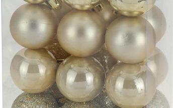 Vánoční koule 24 x 30 mm zlaté