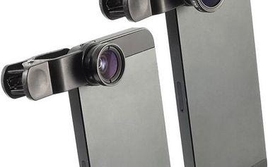 Přídavné objektivy 3v1 pro smartphony