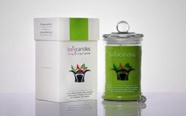 BELLACANDLES Horký jablečný štrůdl, 1,4kg vonná svíčka v každé svíčce stříbrný prsten