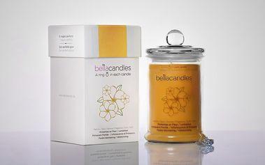 BELLACANDLES Jarní rozkvět, 0,8kg vonná svíčka v každé svíčce stříbrný prsten