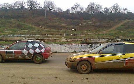 Adrenalinová jízda na profesionální autocrossové trati