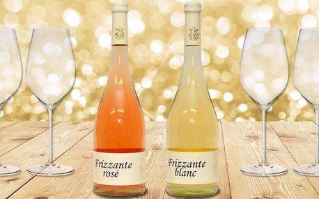 Dárkový set vína se dvěma skleničkami