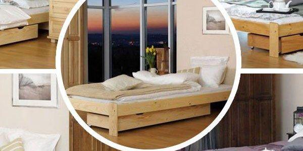Krásná postel z masivu včetně roštu možno i s kvalitní matrací dle výběru!