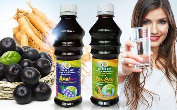 Sirupy nabité vitamíny a energií pro detox a imunitu: Acai Berry, sibiřský ženšen a guarana! Poštovné jen 30 Kč!