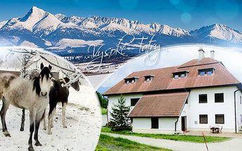Vysoké Tatry! 3-6 dní pro 1 osobu s polopenzí, možností jízdy na koni, spoustou celoročních aktivit a platností do 9/2016!