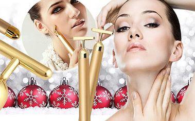 Beauty bar 24K pro dokonalou pokožku - domácí použití! Přístroj, který čistí ucpané póry, eliminuje vrásky, hydratuje!