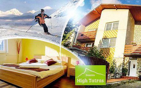 Vysoké Tatry! 3-4 dny pro dva v Penzionu High Tatras včetně snídaní či polopenze, lahve vína a slevy na půjčení lyží!
