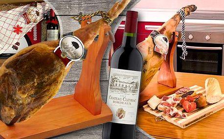 Přední vepřová cca 4kg kýta z bílého vepře! Možnost dárkové sady s vínem, nožem a dřevěným stojanem!