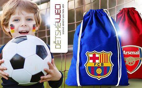 Fotbalový batoh pro fanoušky FC Barcelona, Real Madrid, Arsenal či Chelsea, modrý nebo červený!