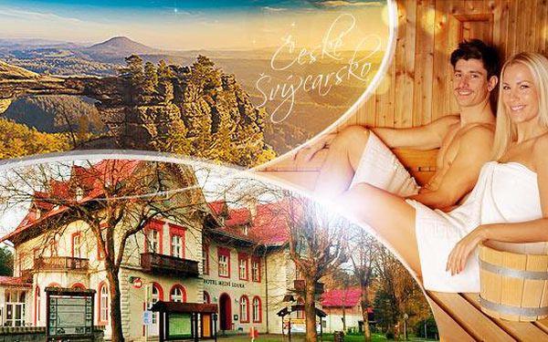Hřensko, České Švýcarsko! Pobyt na 3 dny pro dva s polopenzí v srdci Národního parku, platí do října 2016!