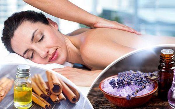 60min. masáž šíje, zad, ramen a plosek nohou s vůní teplého skořicového oleje, nebo levandule v Plzni.